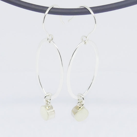 Sterling silver , white resin drop earrings