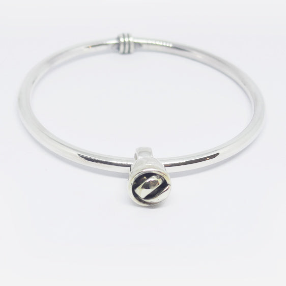 Handmade Sterling silver bangle with slider