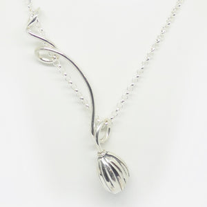 'Emily' Stg silver long length curly pendant (Chain sold separately)