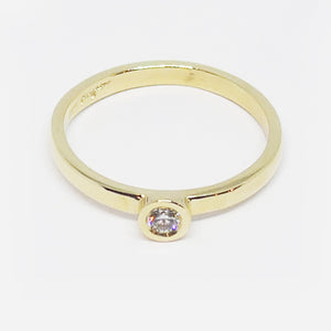 9ct rose gold 0.07ct diamond stacker ring