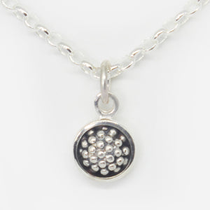Sterling silver oxidised berry pendant (Chain sold separately)