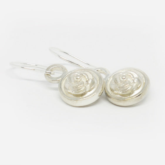 Sterling Silver double sided rose drop earrings