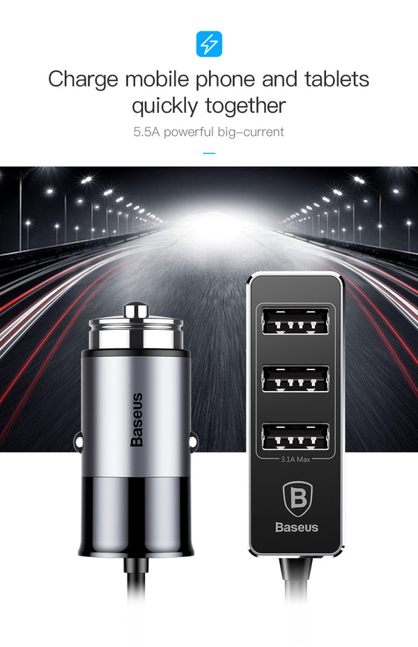 4 Port USB Car Charger | Wireless Car Chargers | Populate.Com.Co