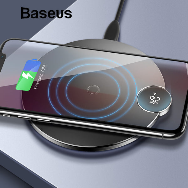 LED Digital Qi Wireless Charger 10W | Wireless Car Chargers | Populate.Com.Co