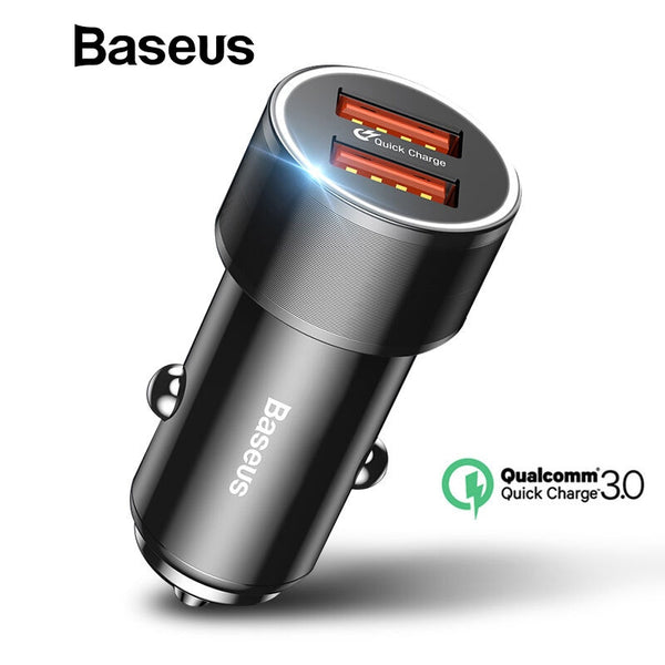 36W QC 3.0 Dual USB Car Charger | Wireless Car Chargers | Populate.Com.Co