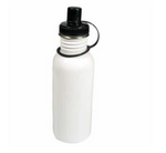 20oz Stainless Steel White Water Bottle