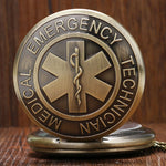 EMT Star of Life Quartz Pocket Watch