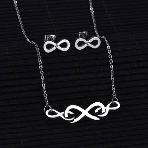 Stainless Steel Stethoscope Necklaces Earring Set