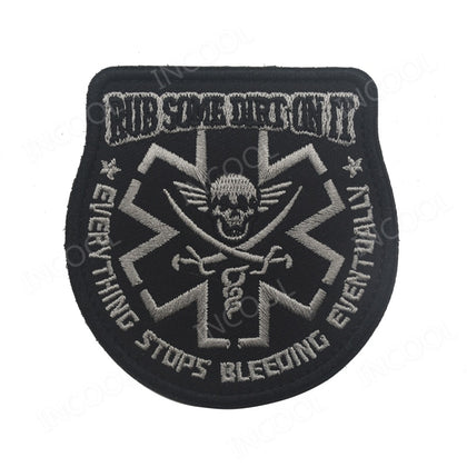 Embroidery Patch Rub Some Dirt Tactical Morale Patch Medic Paramedic EMT Rescue Patch Pirate Emblem Appliques Embroidered Badges