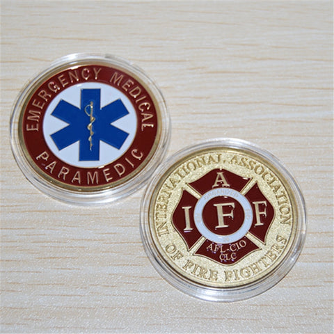 Emergency Medical Paramedic / IAFF - Fire Challenge Coin