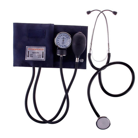 Travel Sphygmomanometer Medical Blood Pressure Monitor Meter Tonometer Cuff Stethoscope Kit