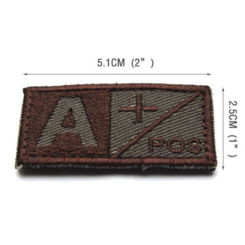 Blood Type Embroidered Patch