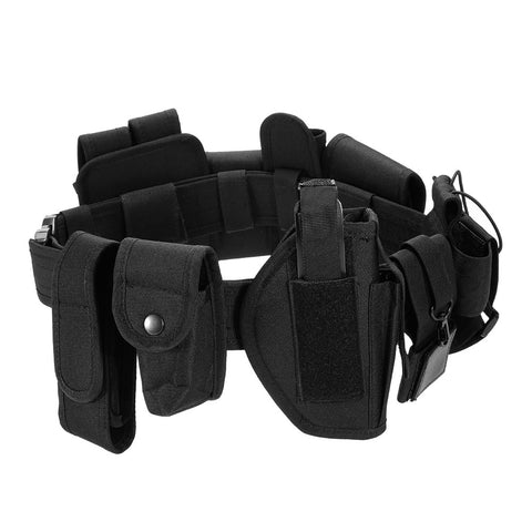 Lixada Tactical Duty Utility Kit Belt with Pouches System Holster Outdoor Training Black