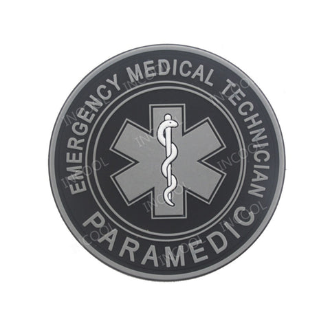2eecd0b4 3D PVC Patch EMT Emergency Medical Star of Life Military Morale Patch  Tactical Badges Hook Rubber