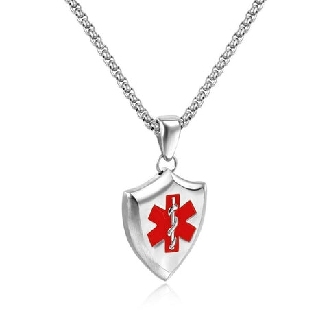 Stainless Steel Necklace Unisex EMT Pendant
