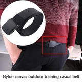 Mens Fashion Outdoor Sports Military Tactical Buckle Nylon Waistband Web Belt