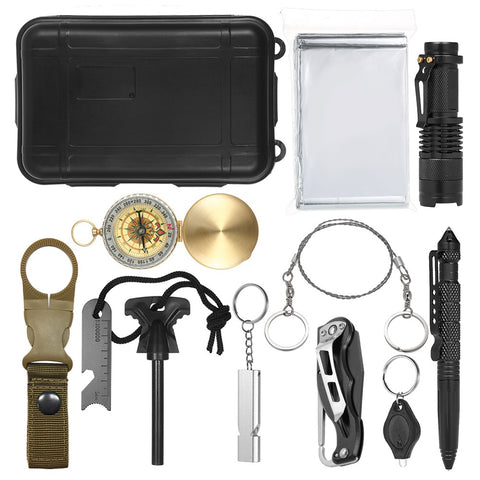 12-IN-1 Outdoor Emergency Survival Tool Set