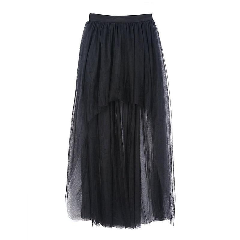 Women's Black Tulle Steampunk Skirt