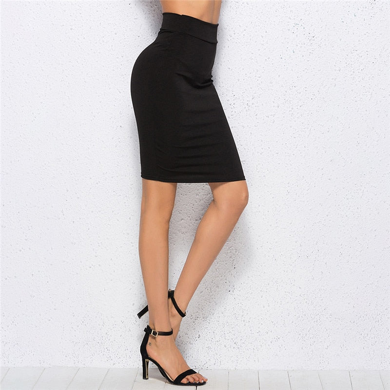 Women's Black Bodycon Bandage Skirt