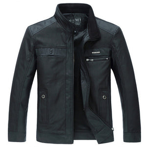 Men's Black Casual Street Jacket