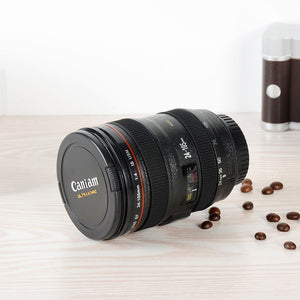 Camera Lens Inspired Insulated Coffee Mug