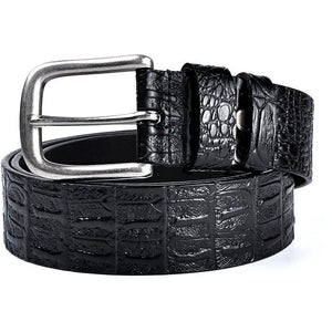 Men's Faux Crocodile Belt