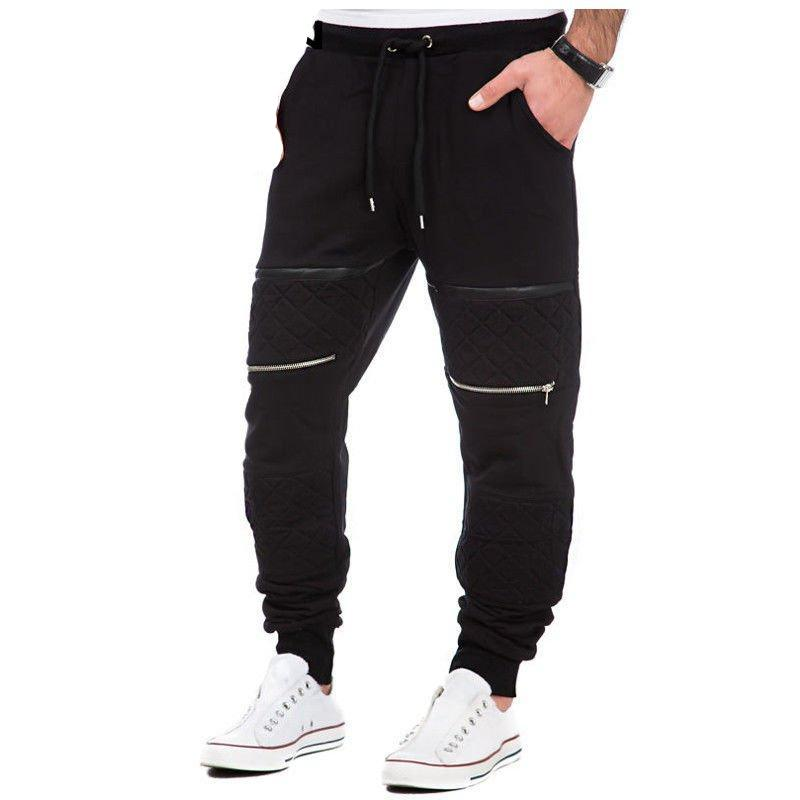 Men's Fleece Lined Moto Joggers
