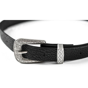 Women's Black Vintage Boho Belt