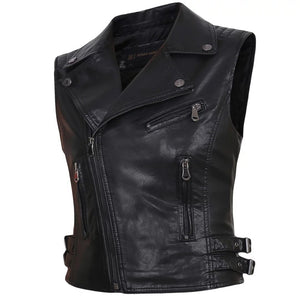 Women faux Leather Vests