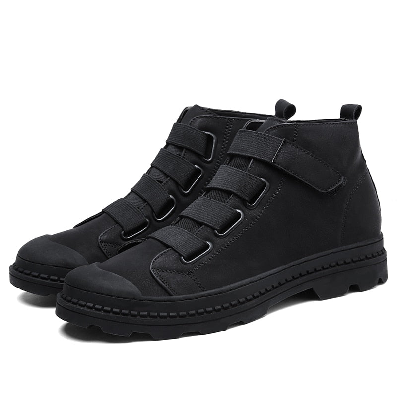 Men's Black Ramialali Genuine Leather  Ankle Boot