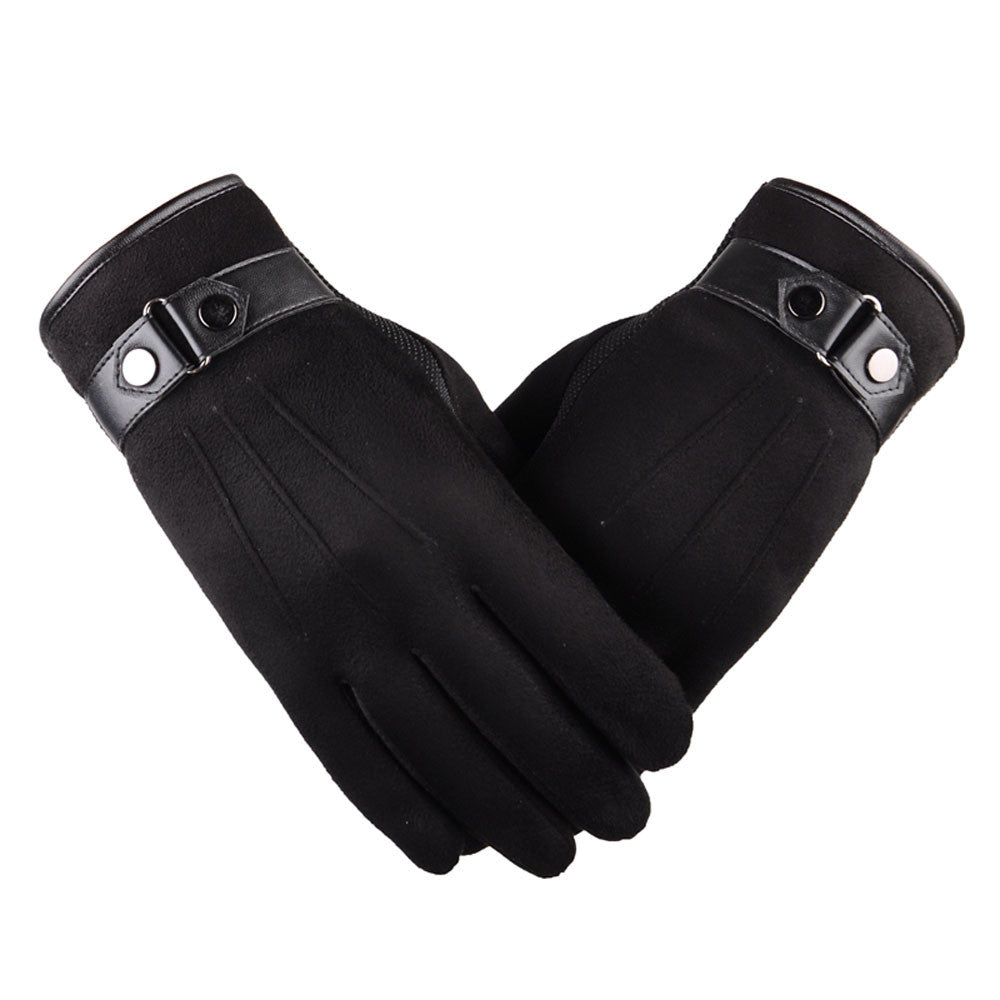 Men's Black Touch Technology Gloves