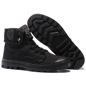 Men's Black High-Top Military Ankle Boots