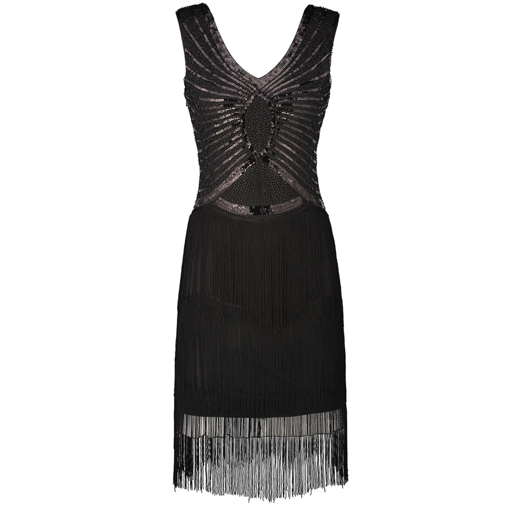 Women Little Black Flapper Dress