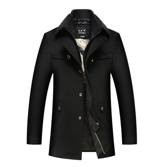 Men's Black Chester Coat