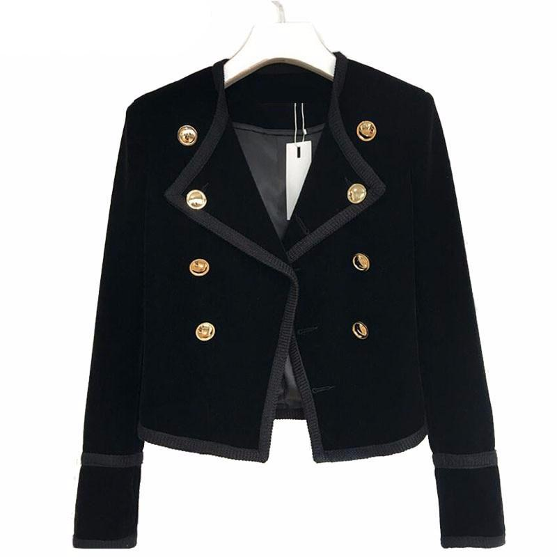 Women's Black Vintage Velvet Jacket