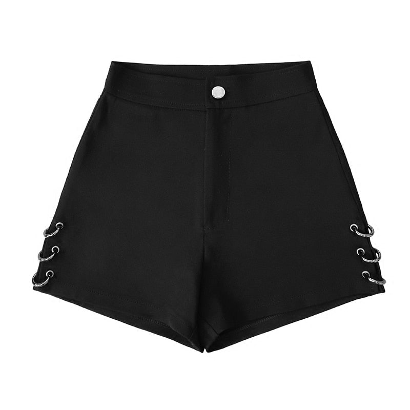 Black Shorts with Rings