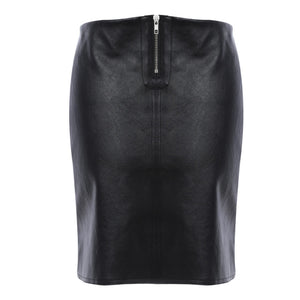 Women's Front Zipper Short Skirt