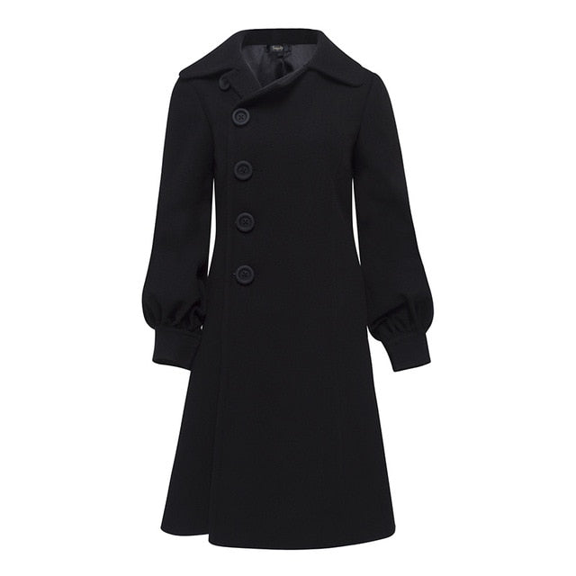 Women's Black Carly Overcoat