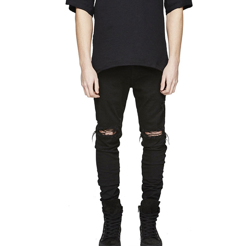 Men's Distressed Slouchy Skinny Jeans