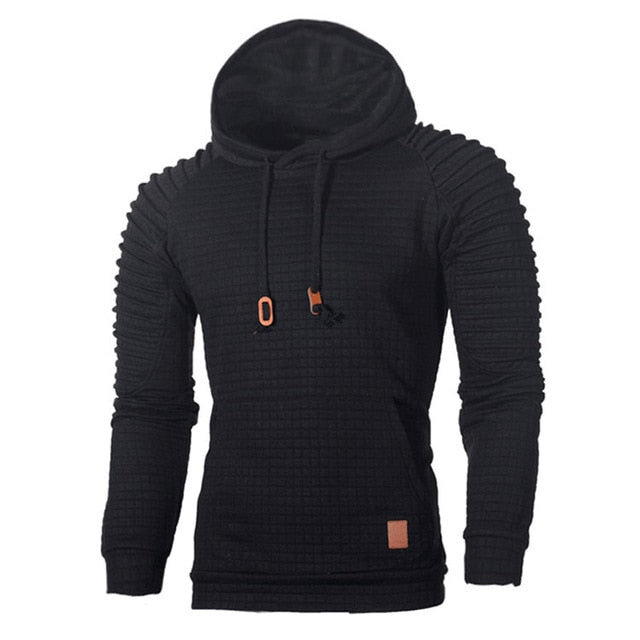 Men's Waffle Knit Pullover with Hood