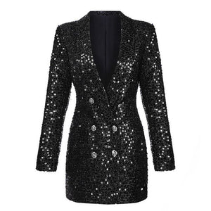 Women's Black Sequin Roller Jacket