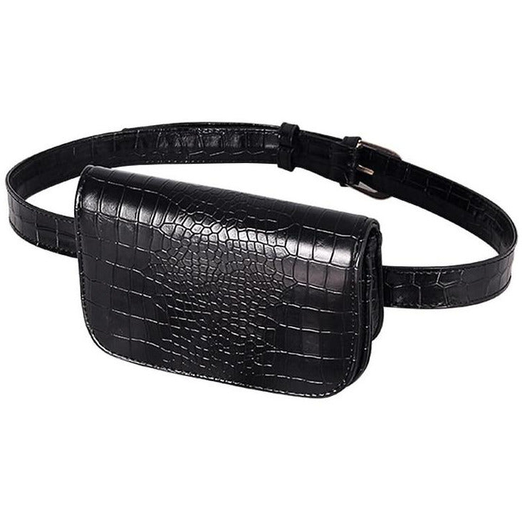 Women's Faux Alligator Leather Belt Bag