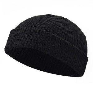 Men's Black Knitted Skull Cap