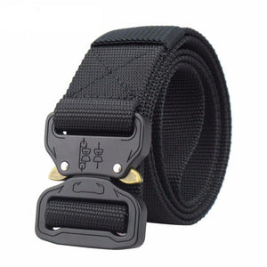 Men's Black Military Style Fashion Belt