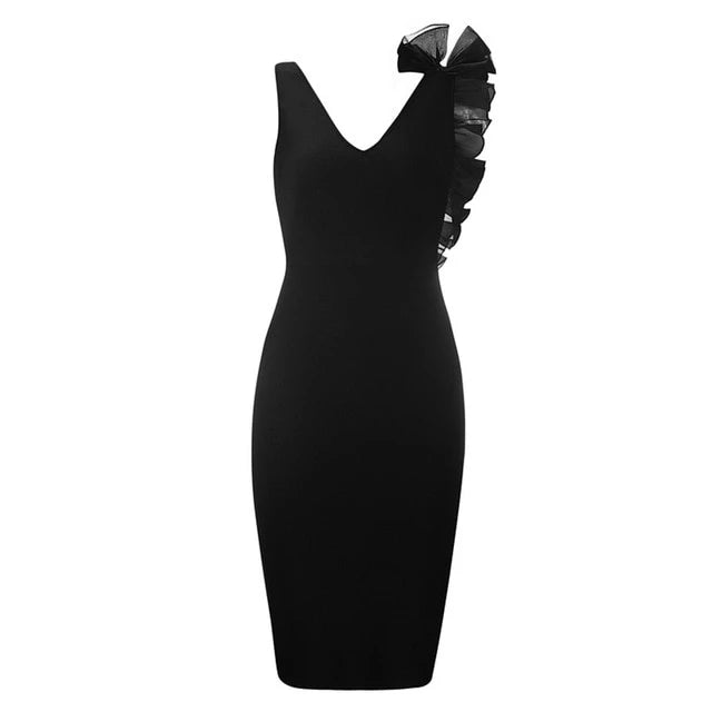 Bodycon Bandage Dress with Ruffle