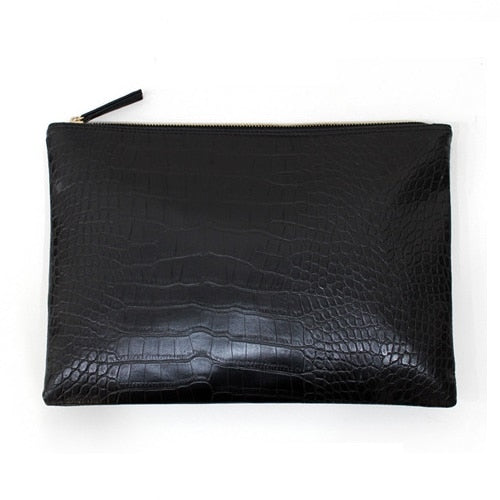 Women's Crocodile Envelope Clutch