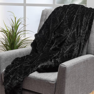 Tuscan Black Fur Blanket