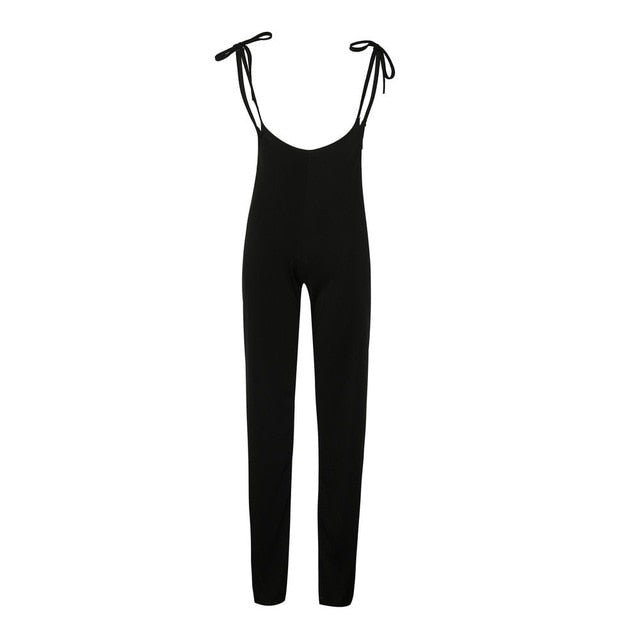 Black High Waist Tie Up Pants