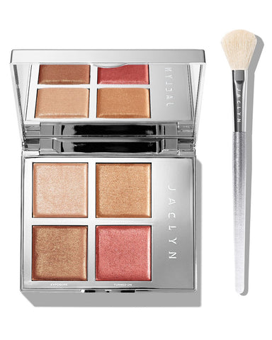 ACCENT LIGHT DUO FLARE HIGHLIGHTER PALETTE & BRUSH SET