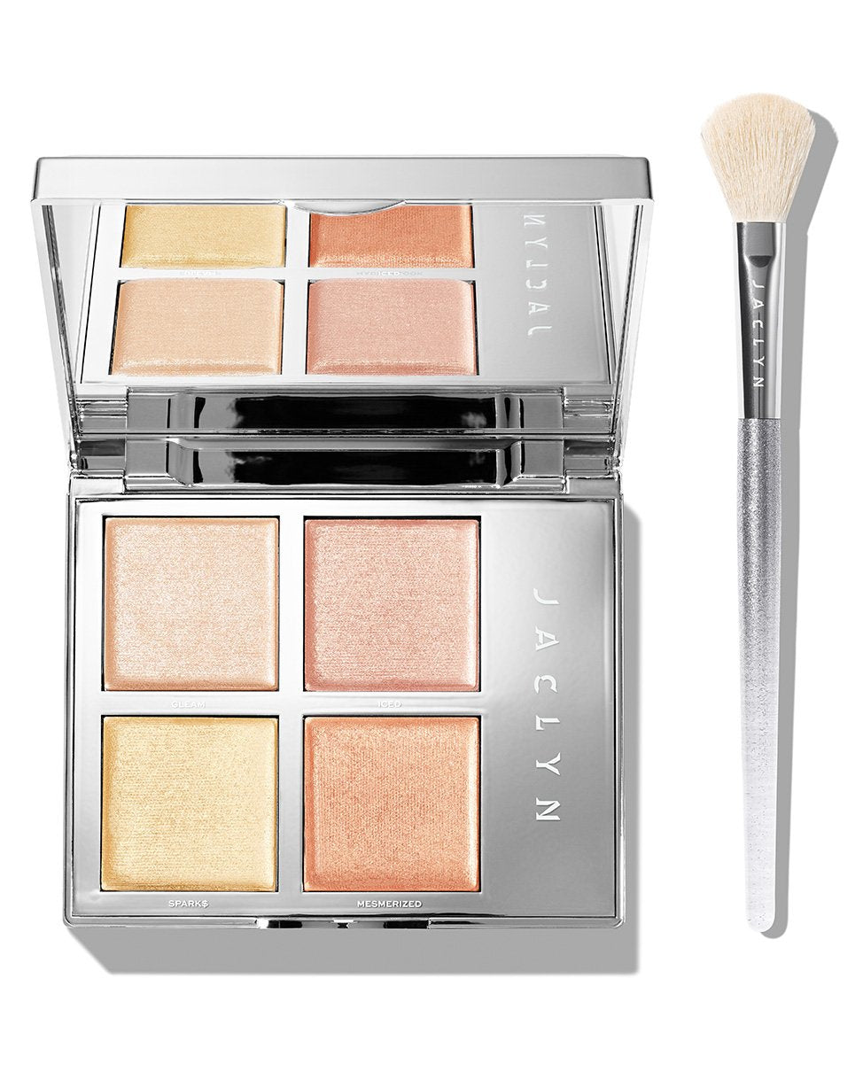 ACCENT LIGHT DUO FLASH HIGHLIGHTER PALETTE & BRUSH SET